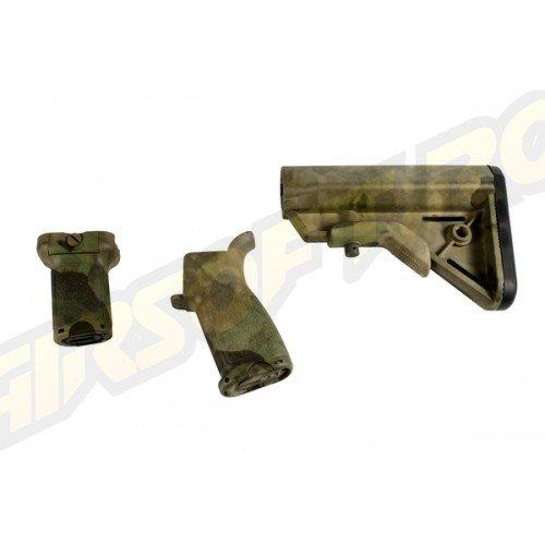 BR FURNITURE - KIT PT. M4 AEG - A-TACS FG - SHORT