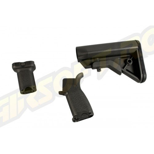CERAKOTE BR - FURNITURE KIT PT. M4 AEG - DISRUPTIVE GREY - SHORT