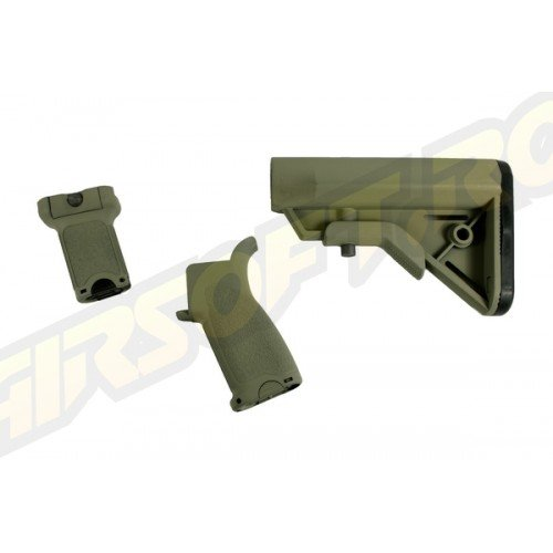 CERAKOTE BR - FURNITURE KIT PT. M4 AEG - FOLIAGE GREEN - SHORT