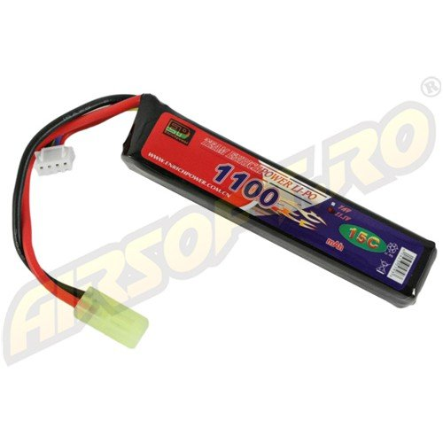 LIPO - ACUMULATOR 11.1V - 1100 MAH - 15C - MINI-TYPE