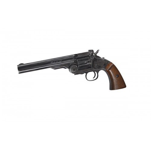 REVOLVER SCHOFIELD 6 INCH - CAL. 4.5MM - GNB - CO2 - BLACK