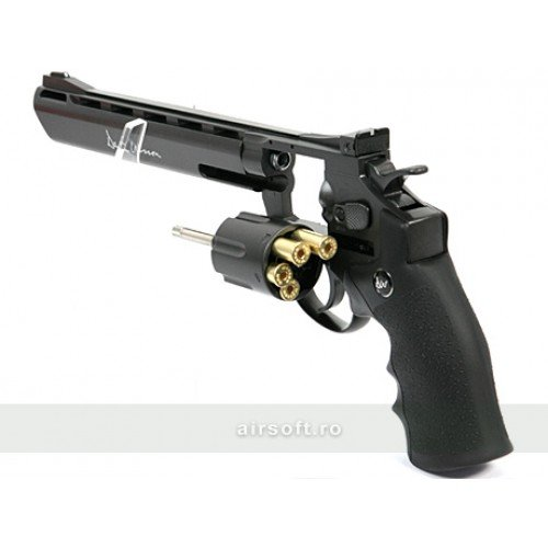 REVOLVER DAN WESSON 8 INCH NEGRU - FULL METAL - GNB - CO2