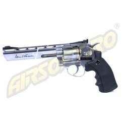 REVOLVER DAN WESSON 6 INCH SILVER - FULL METAL - GNB - CO2
