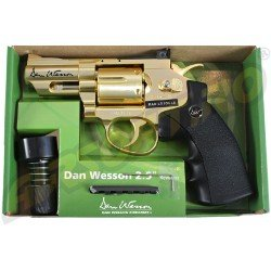 REVOLVER DAN WESSON 2.5 INCH GOLD - FULL METAL - GNB - CO2 - LIMITED EDITION