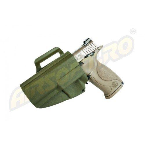 TEACA PENTRU S W MP9 MODEL EVO5 ARES - PARTEA STANGA (OLIV)