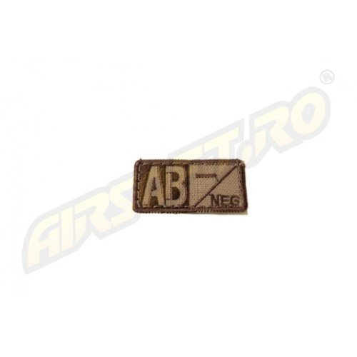 PATCH GRUPA SANGUINA AB-NEGATIV - TAN
