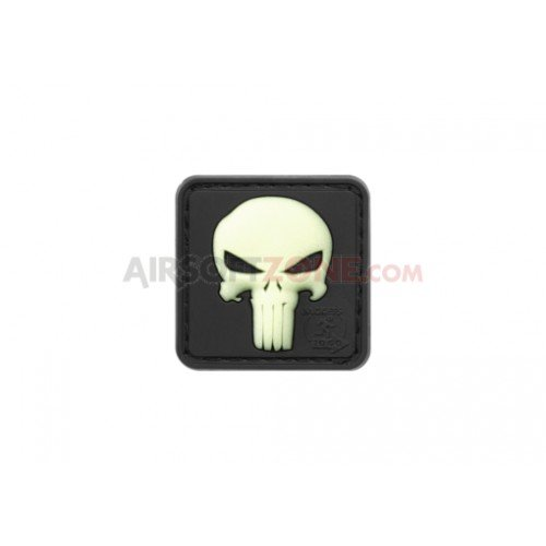 PATCH CAUCIUC PUNISHER - FOSFORESCENT