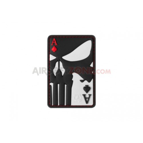 PATCH CAUCIUC PUNISHER ACE OF SPADES - COLOR