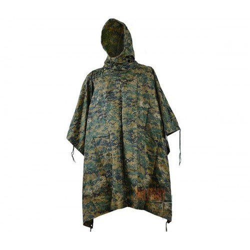 PONCHO MODEL RIPSTOP (WOODLAND-DIGITAL)