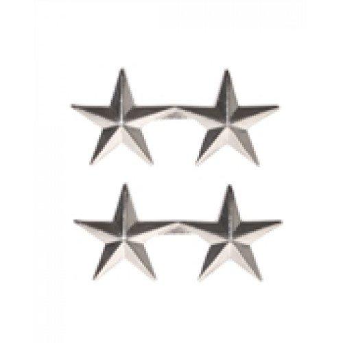 INSIGNA - US 2 STAR GEN SILVER RANK