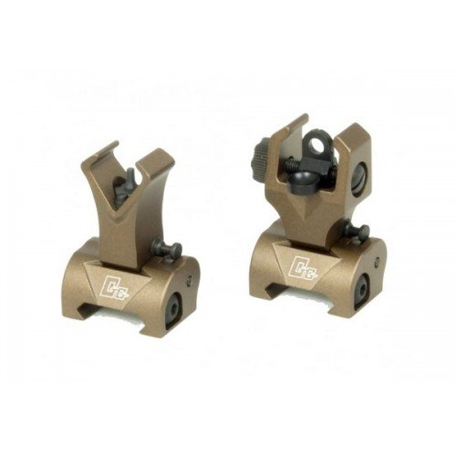 FLIP-UP FRONT SIGHT SI REAR SIGHT PENTRU SERIA M16 - TAN