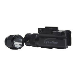 INTERCHANGEABLE TACTICAL FLASHLIGHT AND GREEN LASER PISTOL KIT