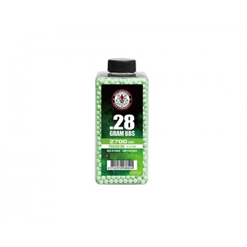 BILE DE 0.28G - 2700 BUC. - FOSFORESCENTE - GREEN