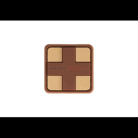 PATCH CAUCIUC RED CROSS - 25MM - DESERT