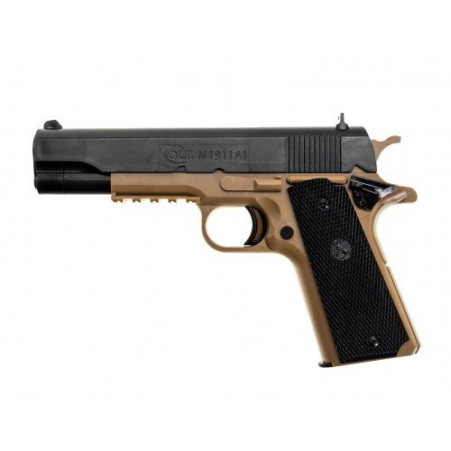 COLT 1911 - TAN BODY - BLACK SLIDE