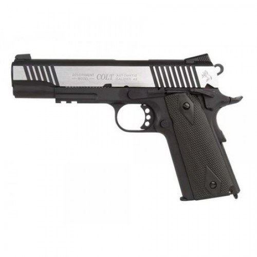 COLT 1911 RAIL GUN - CO2 - DUAL TONE