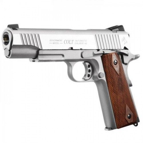 COLT 1911 RAIL GUN - CO2 - STAINLESS