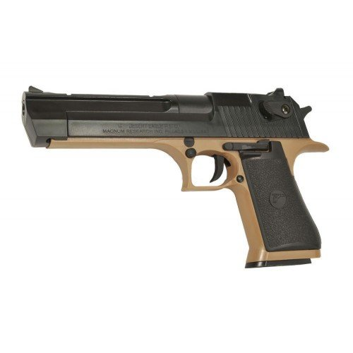DESERT EAGLE 50AE - TAN BODY - BLACK RAIL SLIDE
