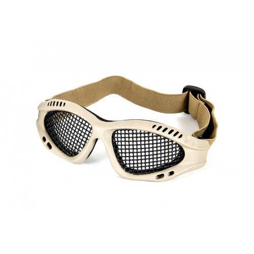 ZERO STEEL MESH GLASSES - TAN