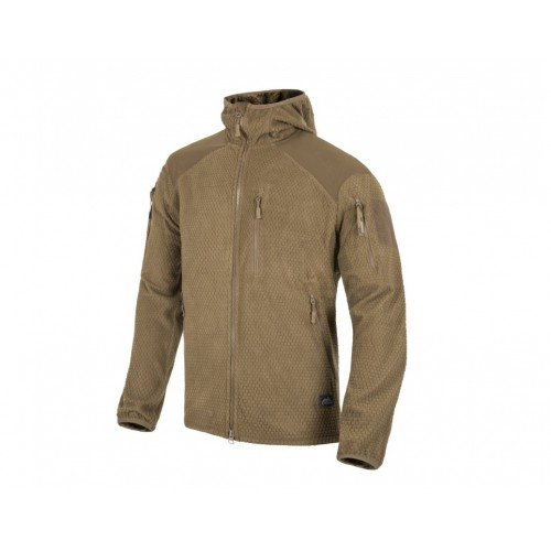 JACHETA MODEL ALPHA HOODIE - GRID FLEECE - COYOTE