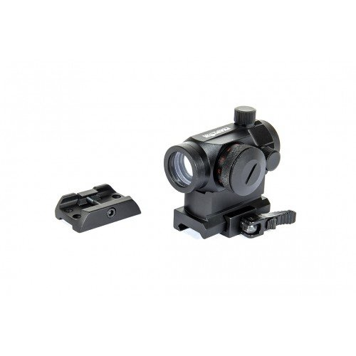 DOT SIGHT - RED/GREEN  - W/QD HIGH MOUNT + LOW MOUNT - BLACK