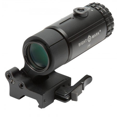MAGNIFIER WITH LQD FLIP TO SIDE MOUNT - T-3 - BLACK