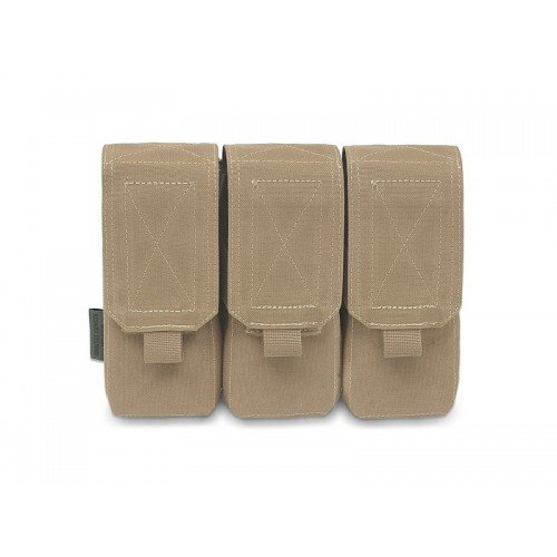 TRIPLE M4 5.56MM MAG POUCH/NON SLIP - RETENTION - 6 MAGS - COYOTE TAN