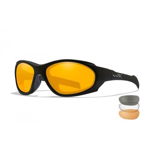OCHELARI CU PROTECTIE BALISTICA MODEL XL-1 AD COMM - SMOKE/CLEAR/RUST - MATTE BLACK FRAME