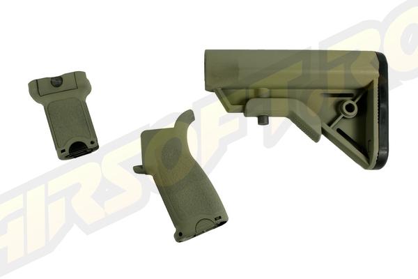 Cerakote Br - Furniture Kit Pt. M4 Aeg - Foliage Green - Short imagine