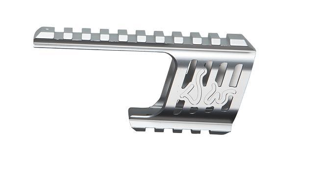 Baza De Montare - Cnc Aluminiu - Pentru Revolver Dan Wesson - Model 715 - Silver imagine