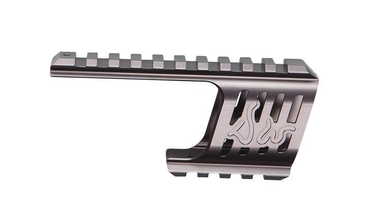 Baza De Montare - Cnc Aluminiu - Pentru Revolver Dan Wesson - Model 715 - Gri Metalizat imagine