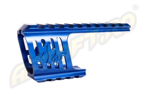 Baza De Montare - Cnc Aluminiu - Pentru Revolver Dan Wesson - Model 715 - Albastru imagine