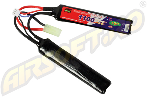 LIPO - ACUMULATOR 7.4V - 1100 MAH - 15C - MINI-TYPE