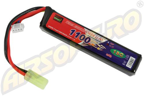 Lipo - Acumulator 11.1v - 1100 Mah - 15c - Mini-Type imagine