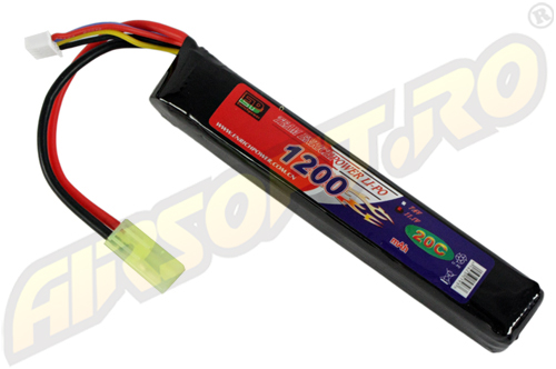 LIPO - ACUMULATOR 11.1V - 1200 MAH - 20C - MINI-TYPE