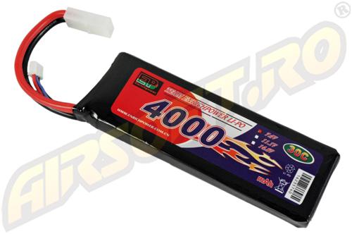 LIPO - ACUMULATOR 7.4V - 4000 MAH - 30C - LARGE-TYPE