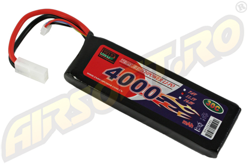 Lipo - Acumulator 11.1v - 4000 Mah - 30c - Large-Type imagine