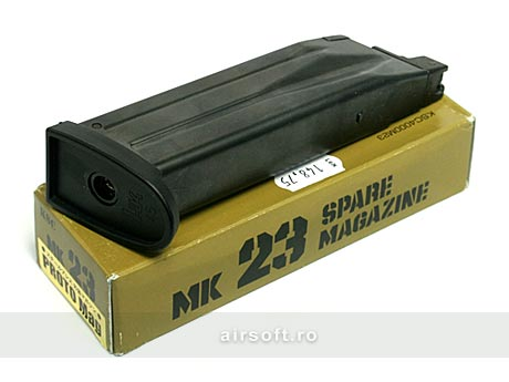 INCARCATOR DE 28 BILE - MK23 SOCOM (GBB)