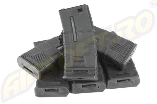 INCARCATOR T4 DE 300 BILE - M16/M4/SR16/CAR 15/M733/L85/GF85/TAVOR (BLACK) - 6 BUCATI
