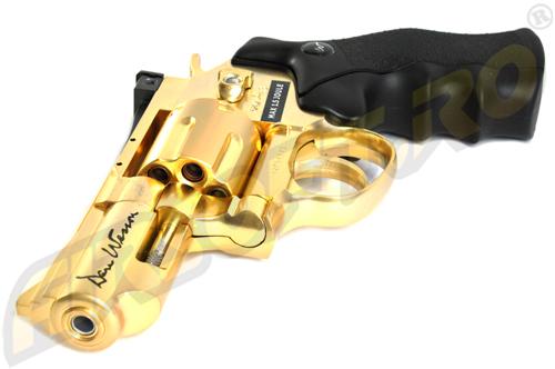 Revolver Dan Wesson 2.5 Inch Gold - Full Metal - Gnb - Co2 - Limited Edition imagine