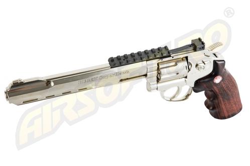 Imagine Umarex Ruger Super Hawk 8 Inch  - Full Metal Gnb Co2 Silver