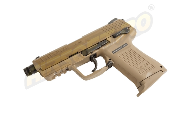 HECKLER KOCH HK45 CT - METAL SLIDE - GBB - FDE