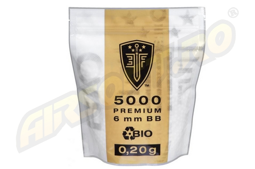 ELITE FORCE BILE DE 0.20G - 5000 BUC. - ALBE - BIODEGRADABILE