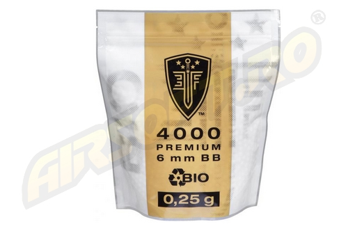 ELITE FORCE BILE DE 0.25G - 4000 BUC. - ALBE - BIODEGRADABILE