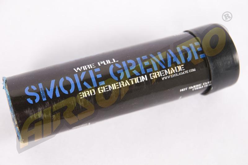 Grenada Fumigena Mare Cu Inel (FUM Albastru) - Generatia Iii imagine