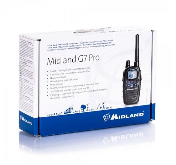 Imagine Midland Statie Radio Midland Pmr - Lpd Portabila G7 Pro Single