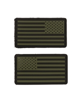 EMBLEMA / PATCH US - PVC - OLIV