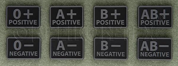 Patch Grupa Sanguina - O Negativ - Negru imagine