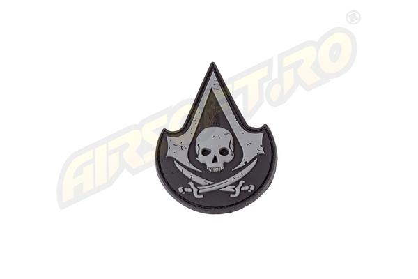 Patch Cauciuc - Assassin Skull - Swat imagine