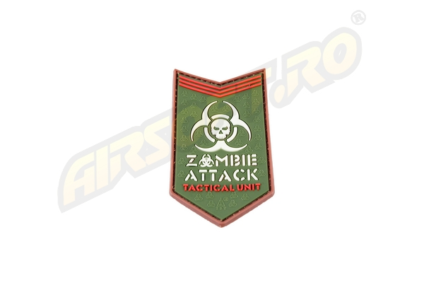 Patch Cauciuc - Zombie Attack - Multicam imagine